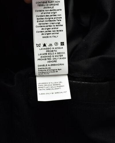 Alessandrini Uomo Giubbotto Made Daniele Jacket Pelle Italy 1 Nero In I91253705 SFF5Oqw