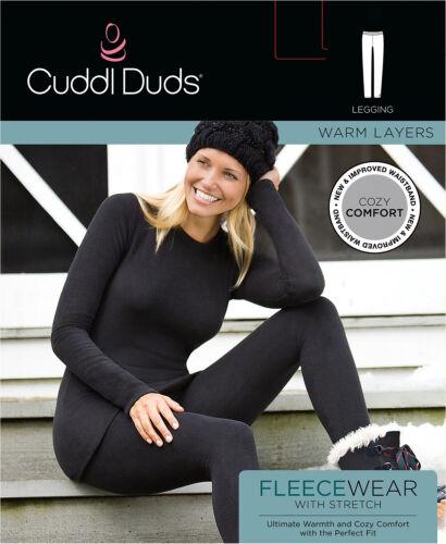 L265 Cuddl Duds Grey Charcoal Stretch Fleece Leggings