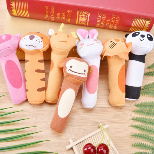 Plush Dog Cat Puppy Pet Squeaker Toy Chew Sound Squeaky Play Fetch Training  TB