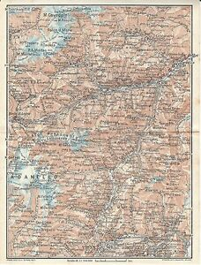 Cartina Geografica Trento.Carta Geografica Antica Trentino Cevedale Adamello Brenta 1920 Old Antique Map Ebay