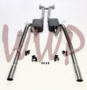 Stainless-Steel-Header-Back-Exhaust-Muffler-System-66-67-Ford-Fairlane-V8-Engine