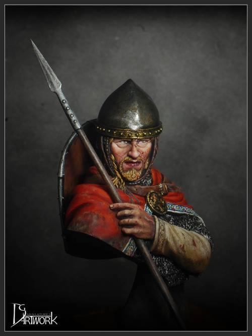DG Artwork Lotharingian Knight 10thC. 1 12th Bust Unpainted kit