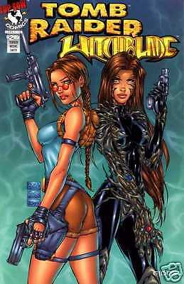 TOMB RAIDER WITCHBLADE #1 VF (Top Cow, 1997) original Comic Book