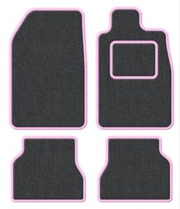 Daihatsu-YRV-01-04-Velour-Anthracite-Pink-Trim-Car-mat-set