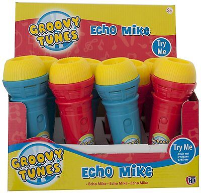 Groovy Tunes Echo Mike Microphone Mic Voice Changer Toy Gift Musical Blue or Red