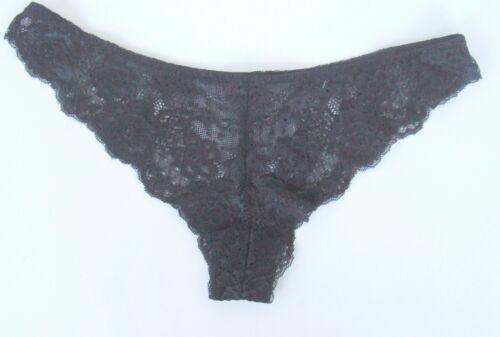 Femmes//Filles EX CHAINSTORE Taille 14 dentelle Brésilien Knickers Culottes Slips Noir