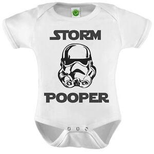 30fd6b08864a STORM POOPER Star Wars Baby Onesie ORGANIC Cotton Romper Baby Shower ...