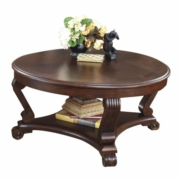 Signature Design By Ashley Brookfield Brown Round End: Signature Design By Ashley Brookfield Dark Rustic Round