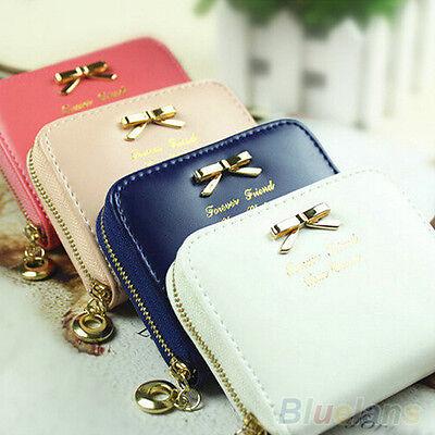 Stylish Womens Cute Mini Faux Leather Lady Purse Wallet Card Holders Handbag New