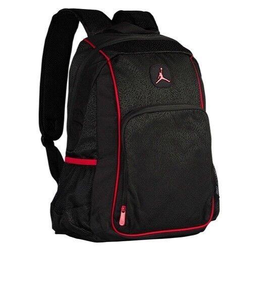 f2d9308c2e69ea NIKE AIR JORDAN LEGACY ELITE BACKPACK 9A1456 KR5 BLACK RED NEW NWT SCHOOL  BAG
