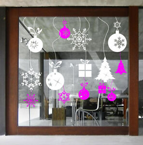 CHRISTMAS-WINDOW-DECORATION-XMAS-BAUBLES-STICKERS-CRISTMAS-WALL-STICKERS-S49