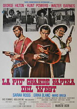 manifesto 2F orig. LA PIU' GRANDE RAPINA DEL WEST George Hilton 1967 Simeoni art