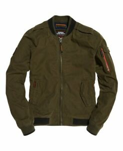 Superdry-Men-039-s-Rookie-Duty-Bomber-Jacket-Olive-Green-Small-Slim-Fit