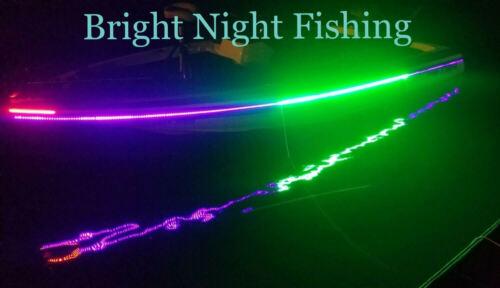 20 ft UV Green LED Strip Black Light Night Fishing Ultraviolet Boat BLACK PCB