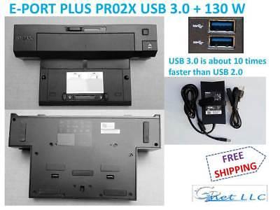 Spacer. Dell E-Port Plus USB 3.0 PR02X Replicator with PA-4E 130W  Adapter