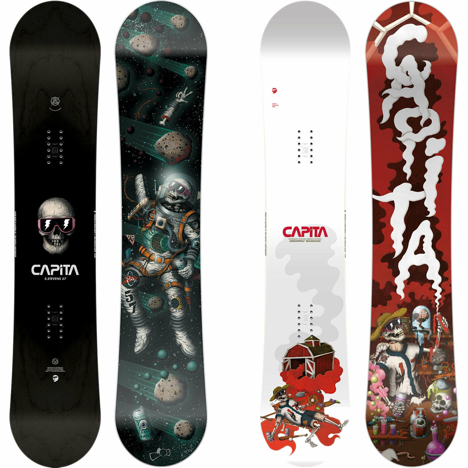 Capita Scott Stevens pro Model Freestyle Snowboard Twin Sie's Jib 2019-2020 New