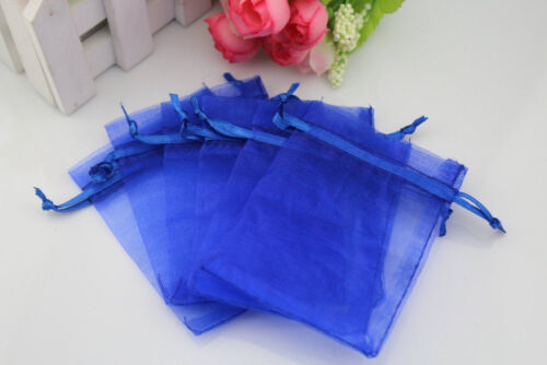 """Lot of 1 100 50 4/""""x6/"""" Organza Gift Bag Jewelry Pouch Wedding Favor bags 10x15cm"""