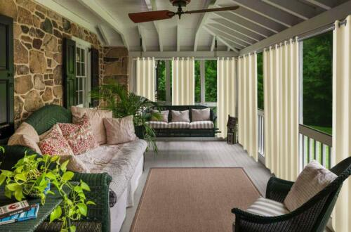 """Privacy Outdoor Waterproof Curtains Panel for Pergola//Patio//Balcony,50x108/""""Beige"""