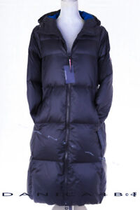 fd5dda57a Details about Tommy Hilfiger Women's Hooded Quilted Maxi Down Puffer Coat  XS Navy