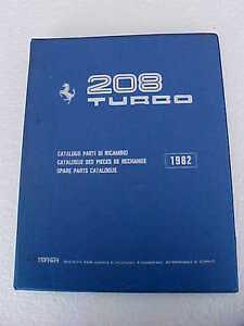 ferrari 208 spare parts catalogue manual turbo blue four ring book rh ebay com White Ferrari 458 Ferrari 328