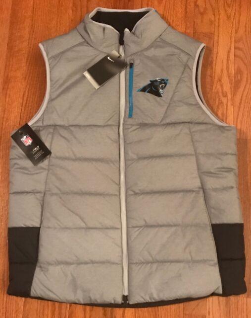 best authentic 1b78d 3def3 Men's Carolina Panthers Nike Champ Drive Vest Jacket Coat XL