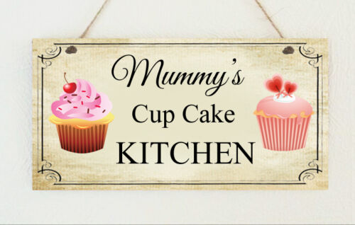 Shabby Plaque Cup Cake Kitchen Pesonalised Mum Mummy Nanny Sign Mother's Day