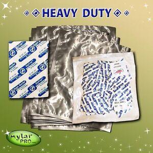 20 1 Gallon Mylar Pro Bags 10x16 + 300cc Oxygen Absorbers Long Term Food Storage