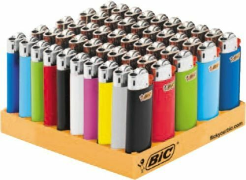 50-Genuine-BIC-Small-Mini-Cigarette-Cigar-Tobacco-Lighter-J25