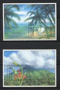 32144) Grenada Grenad. 1994 MNH New Flowers S/Sx2