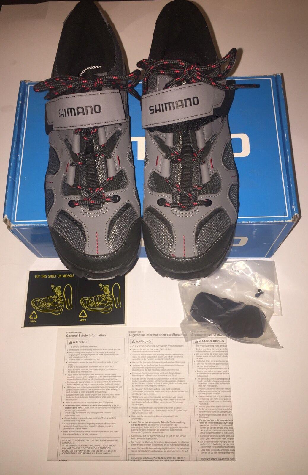 8 3 US Size Red Grey shoes Bike Mt  SH-MT43G SHIMANO Euro