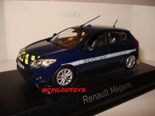 NOREV RENAULT MEGANE BERLINE GENDARMERIE YELLOW STRIPPING 2012 au 1//43°