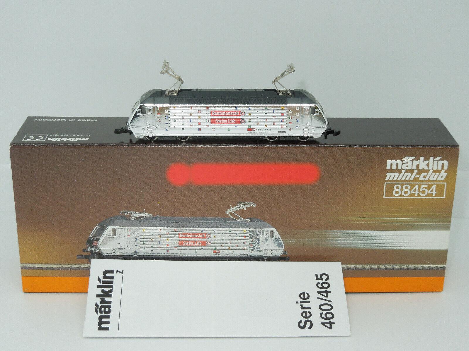 Märklin mini-club 88454 E-Lok serie 460 della SBB-pensioni manicomio Swiss Life