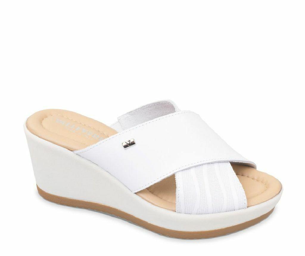 Valleverde scarpe donna ciabatte 32341    bianco pelle PE19 fb4e7e
