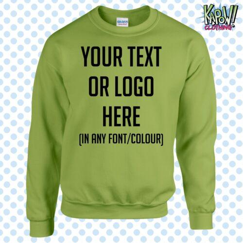 Custom Personalised Unisex Printed SWEATSHIRT Jumper Name Workwear-Yr text//logo5