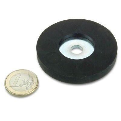 Magnetsystem Ø 31 mm gummiert mit Bohrung Magnete hält 7,5 kg Markenware