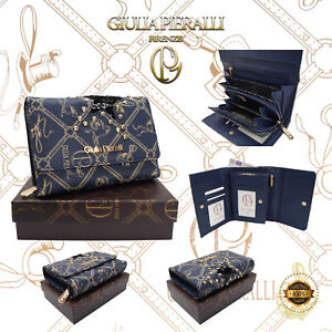 9d25189811702 Das Bild wird geladen Damen-XL-Geldboerse-Giulia-Pieralli-Design-klein- Portemonnaie-