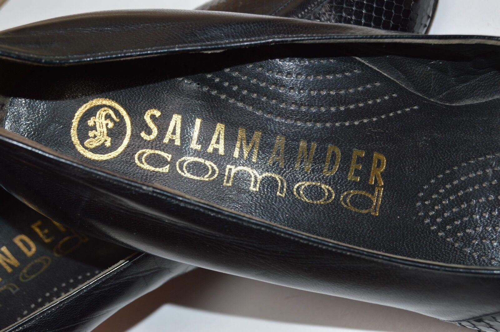 SALAMANDER Comod Optik Pumps True Vintage Reptil Optik Comod schwarz UK 5 F snake optik f2452c