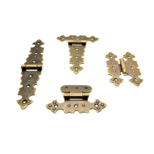 Gold Metal Hinges Decorative Retro Vintage Furniture Jewellery Box Dolls House
