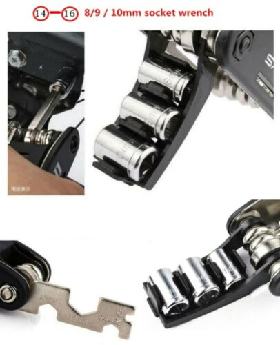 Bicycle Repair Tool Folding Multi function Pocket Tool Screwdriver Portable Set