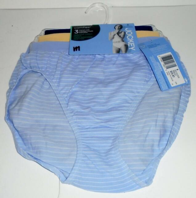 4611c4e32bf8 JOCKEY Ladies Briefs 3 Pair Comfies Seamfree Cotton French Cut Panties Size  6