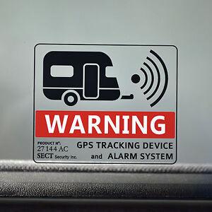 Details Zu 2x Wohnwagen Caravan Reisemobil Alarm Aufkleber Sticker Gps Tracking