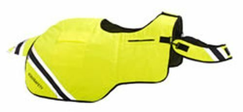 EQUISAFETY WATERPROOF QUILTED HI-VIS WRAP AROUND RUG  - PONY YELLOW  - EQY0215
