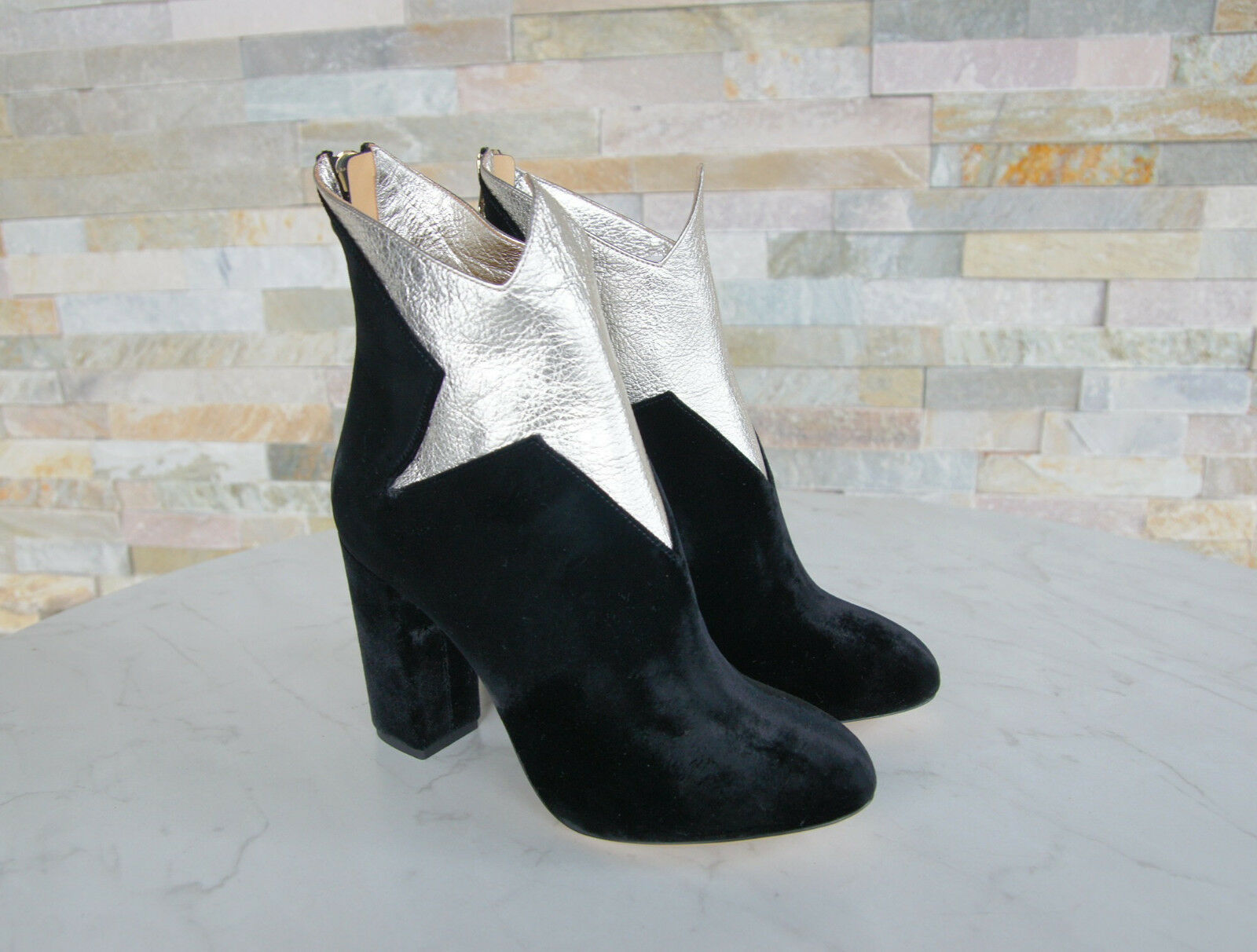 Luxury Charlotte Olympia 40 Ankle Boots Boots Boots Boots shoes Velvet New Previously c88bd5