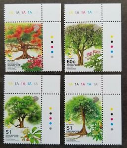 [SJ] Singapore Heritage Trees Care For Nature 2002 Flower Fruit (stamp plate MNH
