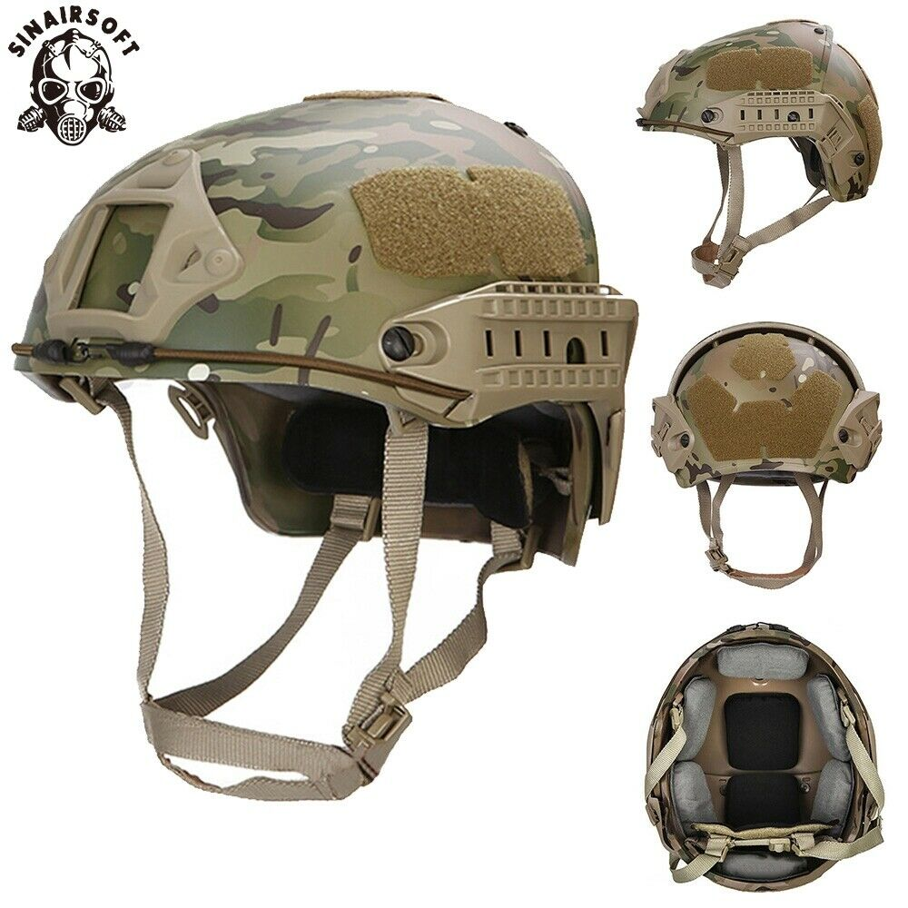 Tactical 2 in  1 CP Type Airsoft Frame Lightweight Helmet Vented Head Predective  shop clearance