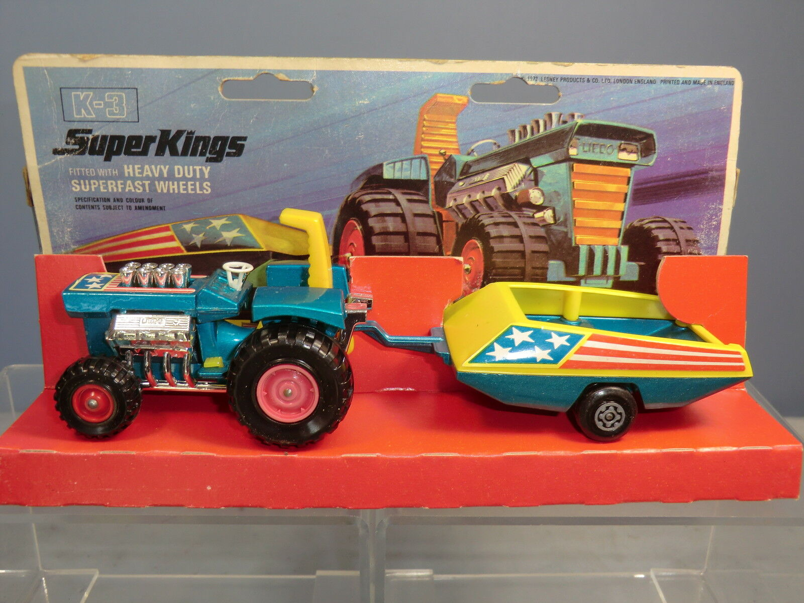 MATCHBOX SUPER KINGS  Modelll No.K-3 MOD TRACTOR & TRAILER  VN MIB