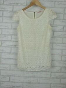 Review-Lace-Print-Top-Exposed-Zip-Cream-Sz-8