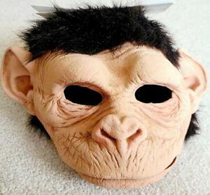 Monkey-Monkey Chimp Mask Movable Mouth Primate Sculpt Costume Natural Latex