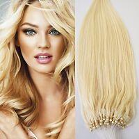 24 70g 100s Micro Ring Loop 100% Human Hair Extensions Natural Soft Real Beauty