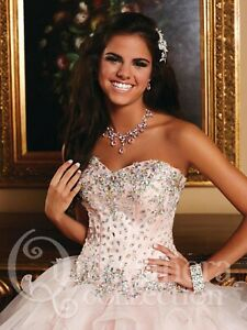 NWT-Size-12-Light-pink-jeweled-ball-gown-PROM-dress-Quinceanera-Collection-26759